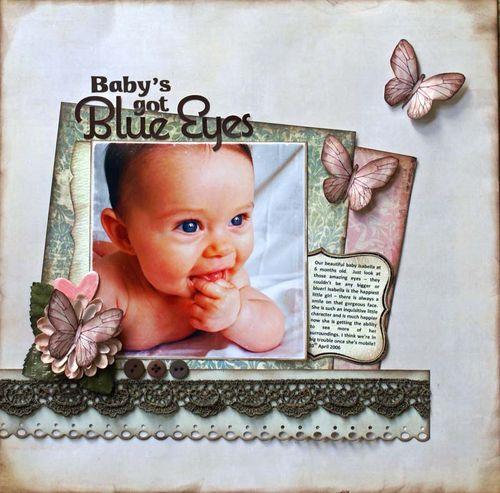 Baby's got blue eyes